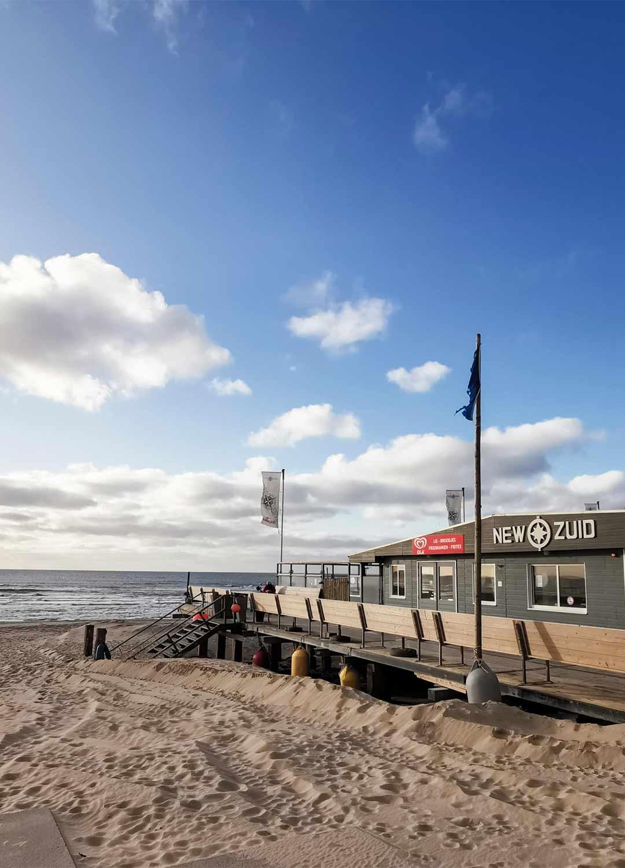Strandpavillon New Zuid Sind Maartensvlotbrug