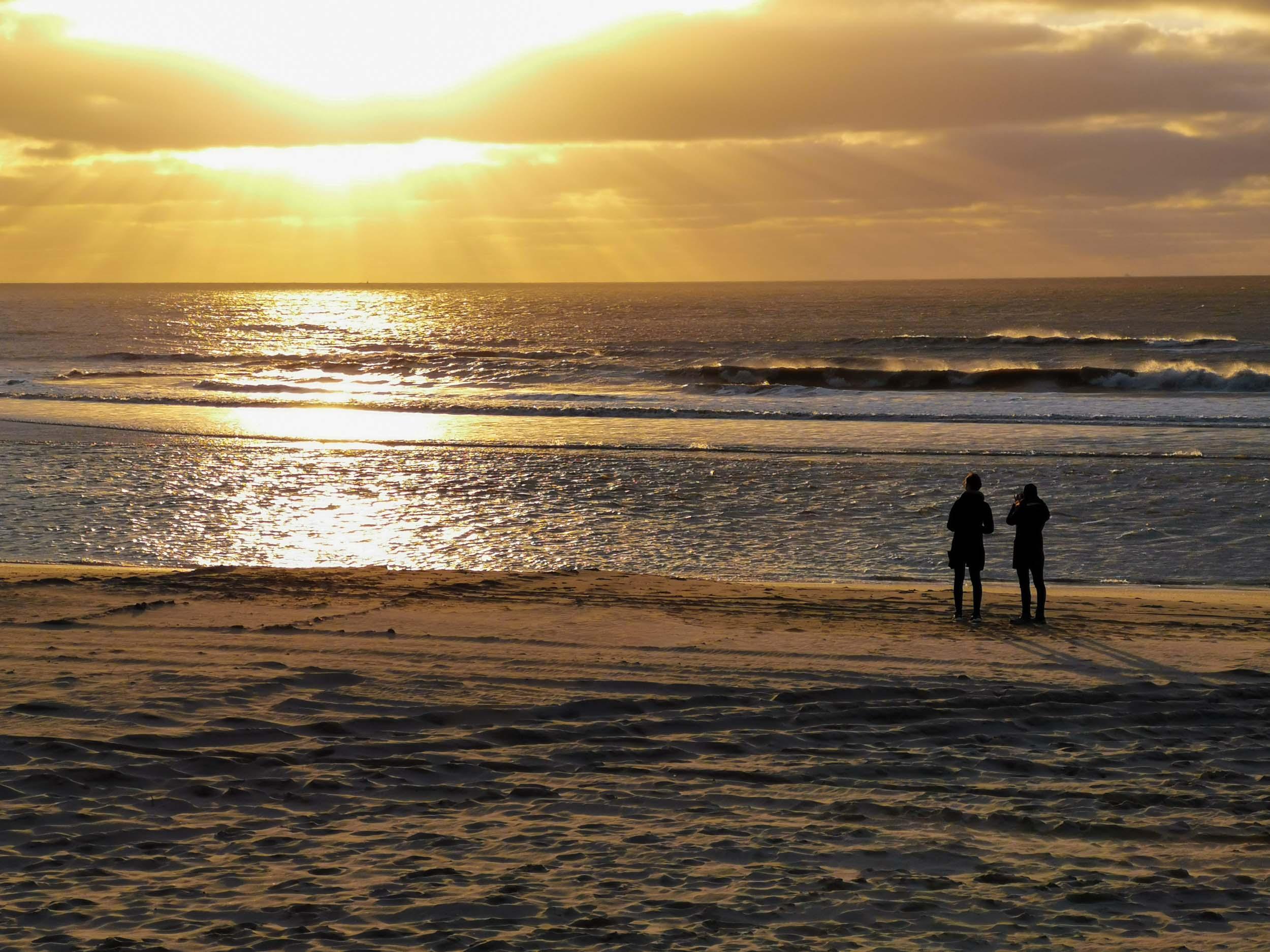 Sonnenuntergang im März Sint Maartenszee