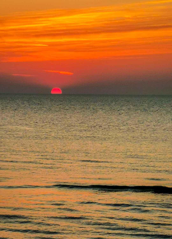 Sunset Sonnenuntergang Sint Maartenszee
