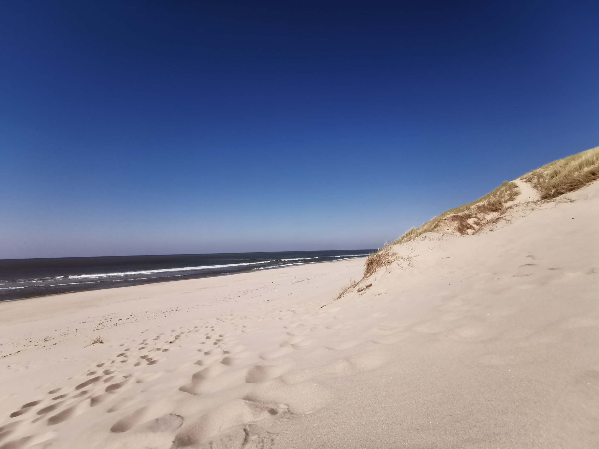 Wir haben fast weißen Strand hier in Nordholland