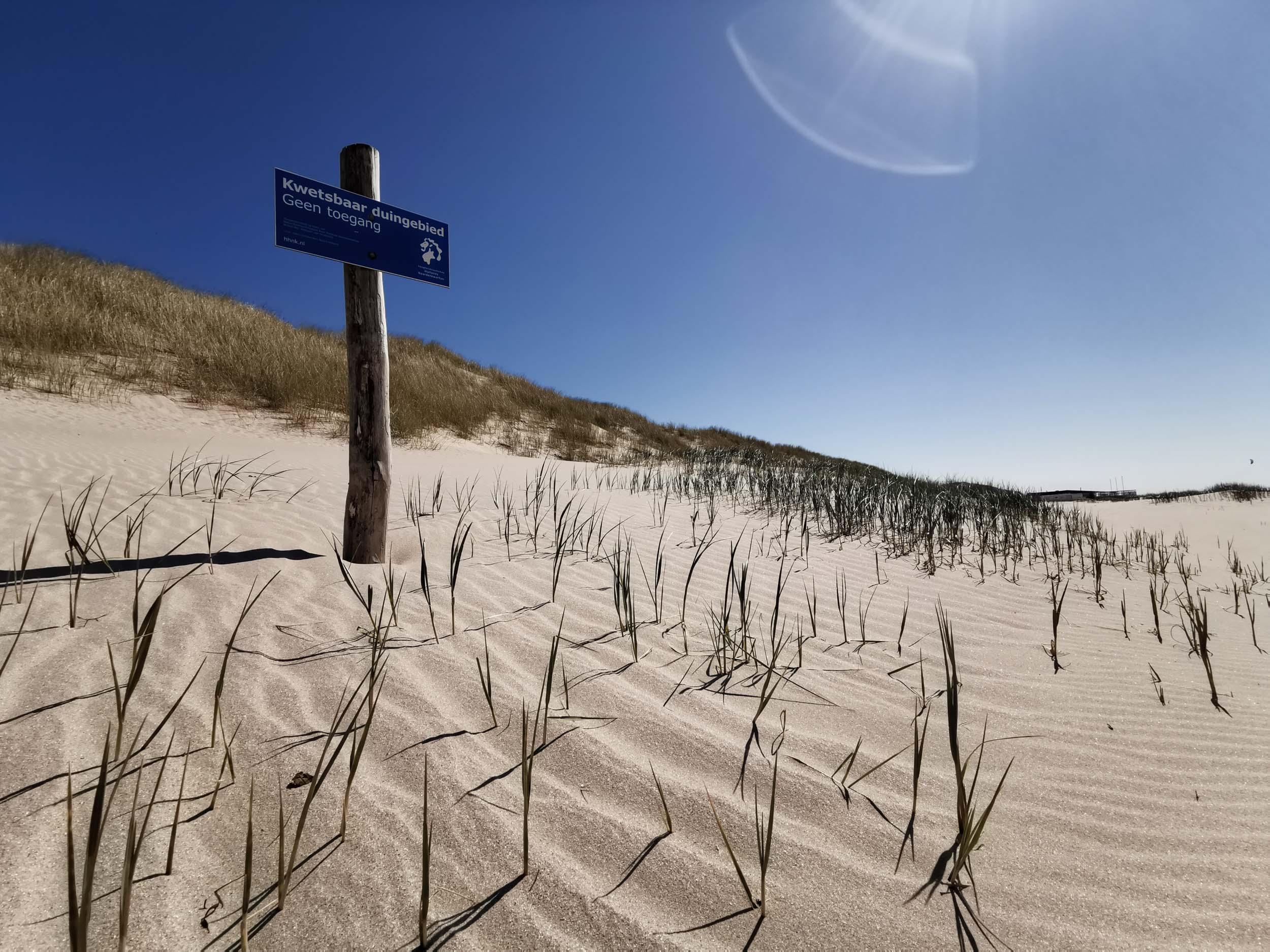 Die Dünen sind wunderschön aber auch schutzbedürftig