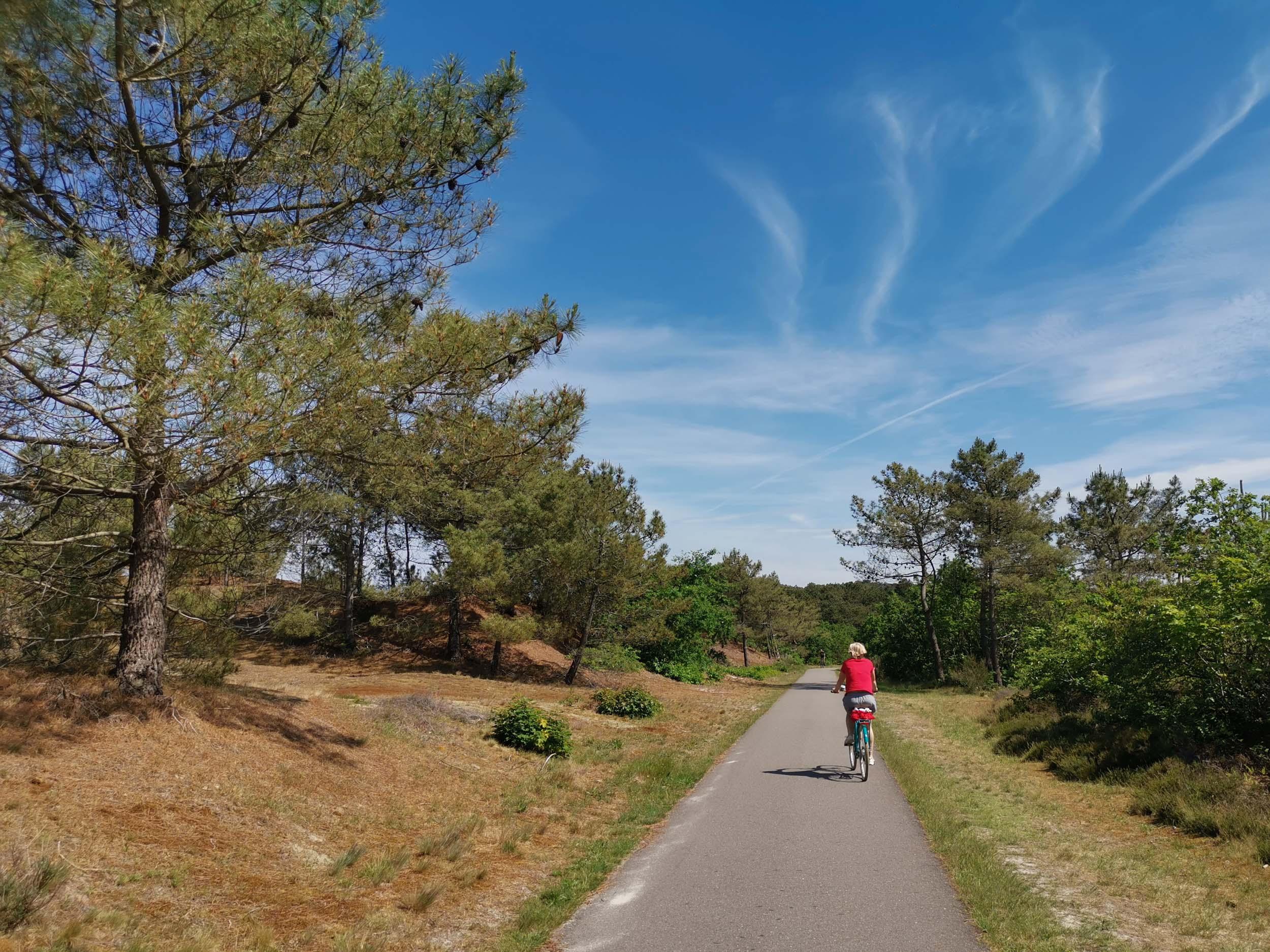 kilometerlange Radwege in die Dünen von Schoorl